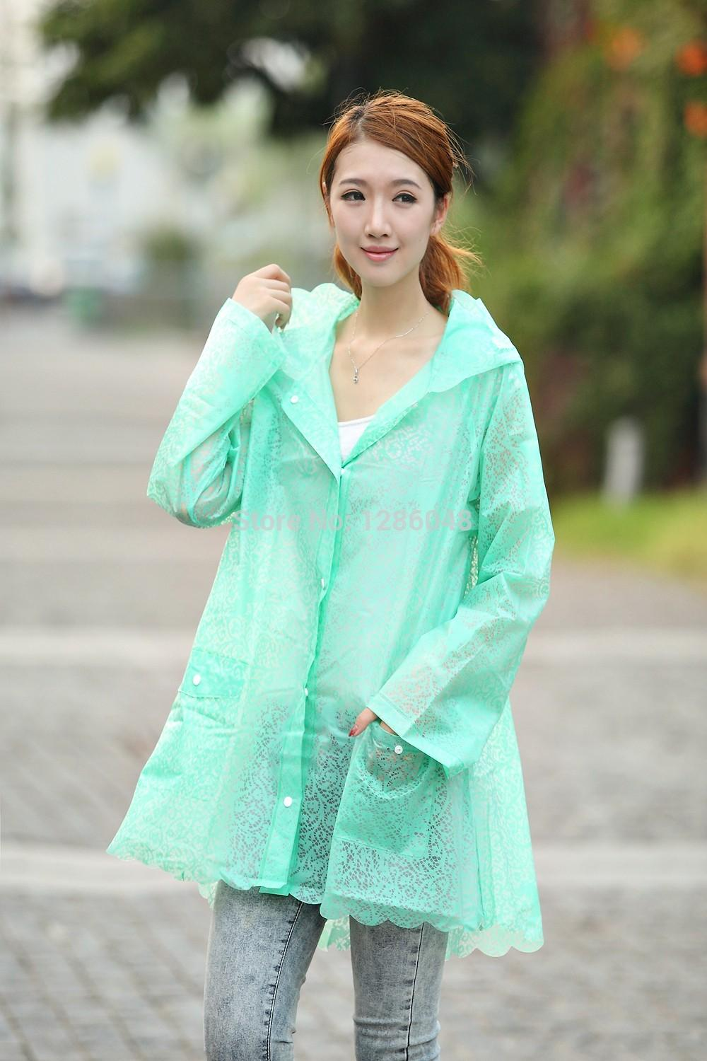 2019 Fashion Lace Women S Raincoat Outdoor Tour Rain Jacket Waterproof Four  Colors Available From Georgen 18bba511b