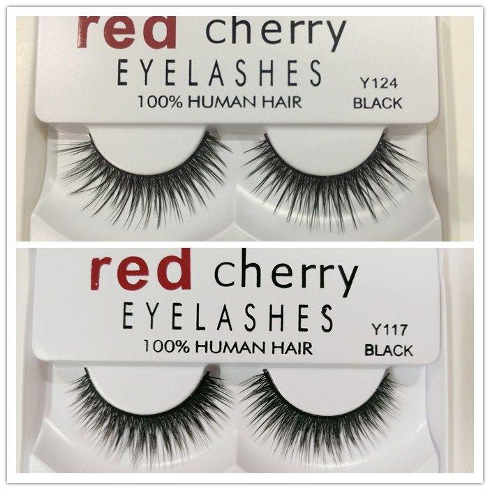 RED CHERRY False Eyelashes Natural Long Eye Lashes Extension Makeup Professional Faux Eyelash Winged Fake Lashes Wispies 8 styles hot sale