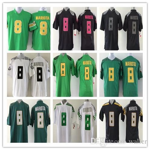 new styles 48d3d 9523b 2018 Youth College Oregon Ducks 8 Marcus Mariota Kids Jerseys Home Away  White black Green Cheap
