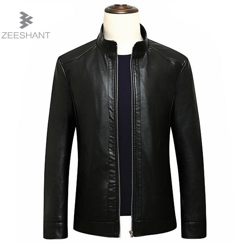 b3000e8cfe22 Acheter 2018 Nouvelle Arrivée Vestes En Cuir Hommes Veste Homme Outwear Hommes  Manteaux Printemps Automne PU Veste De Couro Manteau Plus La Taille L 8XL  De ...