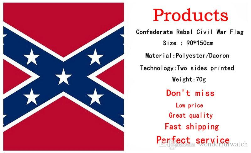 Two Sides Printed confederate Flag National Polyester Flag 5 X 3FT Confederate Rebel civil war rebel flag H11w