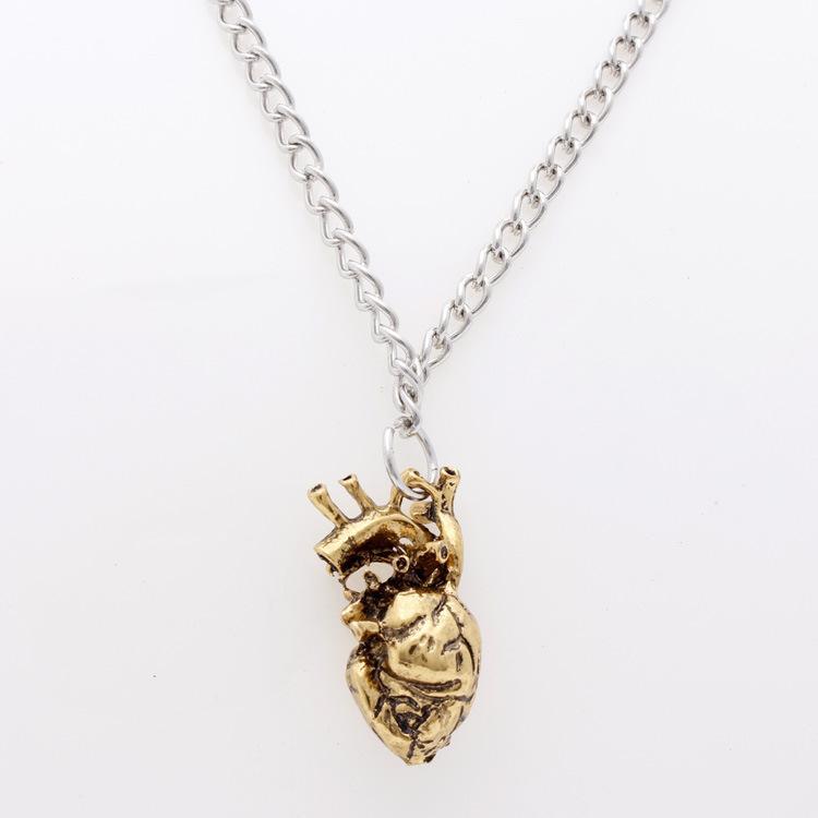 Wholesale Sunshine Anatomical Heart Pendant 2018 Necklace Europe ...