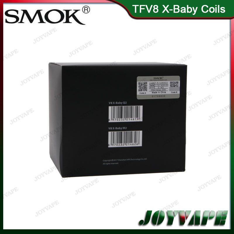 Auténtico SMOK TFV8 cabezas de la bobina X-Baby M2 Q2 X4 T6 bobinas del reemplazo del atomizador para Smoktech TFV8 X-Baby Tank 100% Original