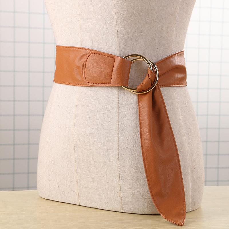 3608a3a1e Hot Fashion Punk Big O Ring Wide Waist Belt Cummerbund For Women Faux  Leather Tied Up Waist Belt Girdle Skirt Decoration Corset Belt Concho Belt  From Kwind, ...