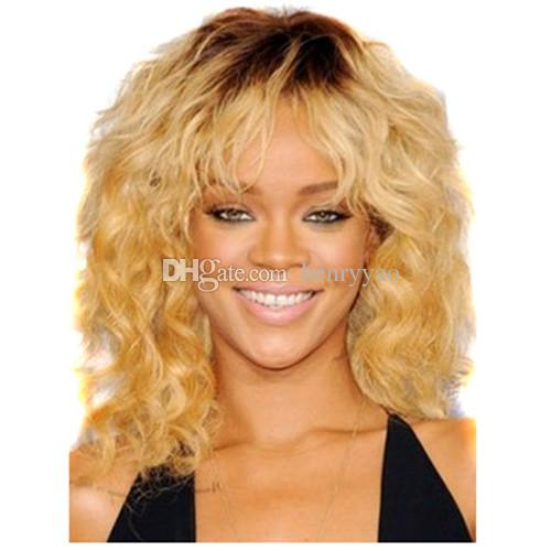 Synthetic Wig Short Natural Body Wave Yellow Blonde Hair Wigs Fashion Cheap Side Bang for Women Heat Resistant Hair