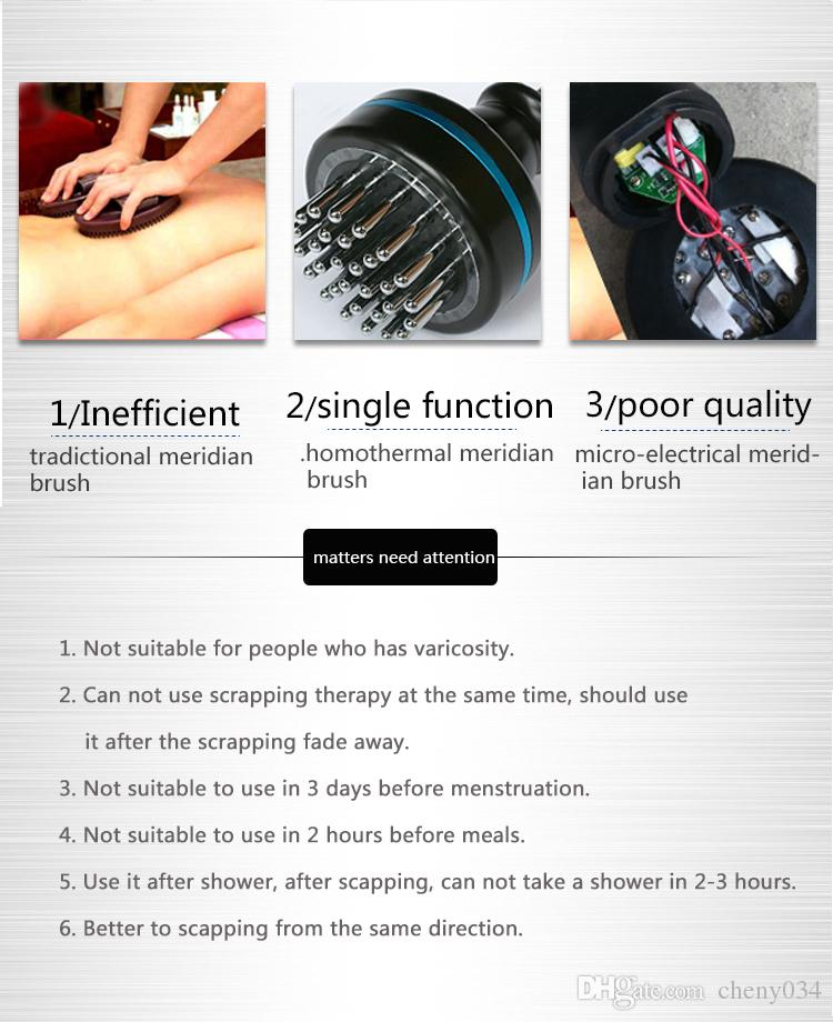 2018 NEW Electronic acupuncture slimming Device,BIO microcurrent Meridian Scrape Therapy,Infrared body Detoxification massage comb