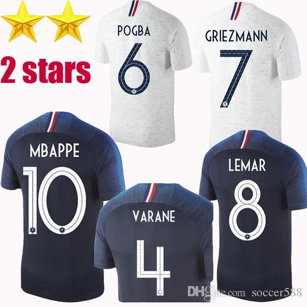 add7425632d Thailand 2 Stars PAVARD Soccer Jersey Football Shirt 2018 World Cup ...