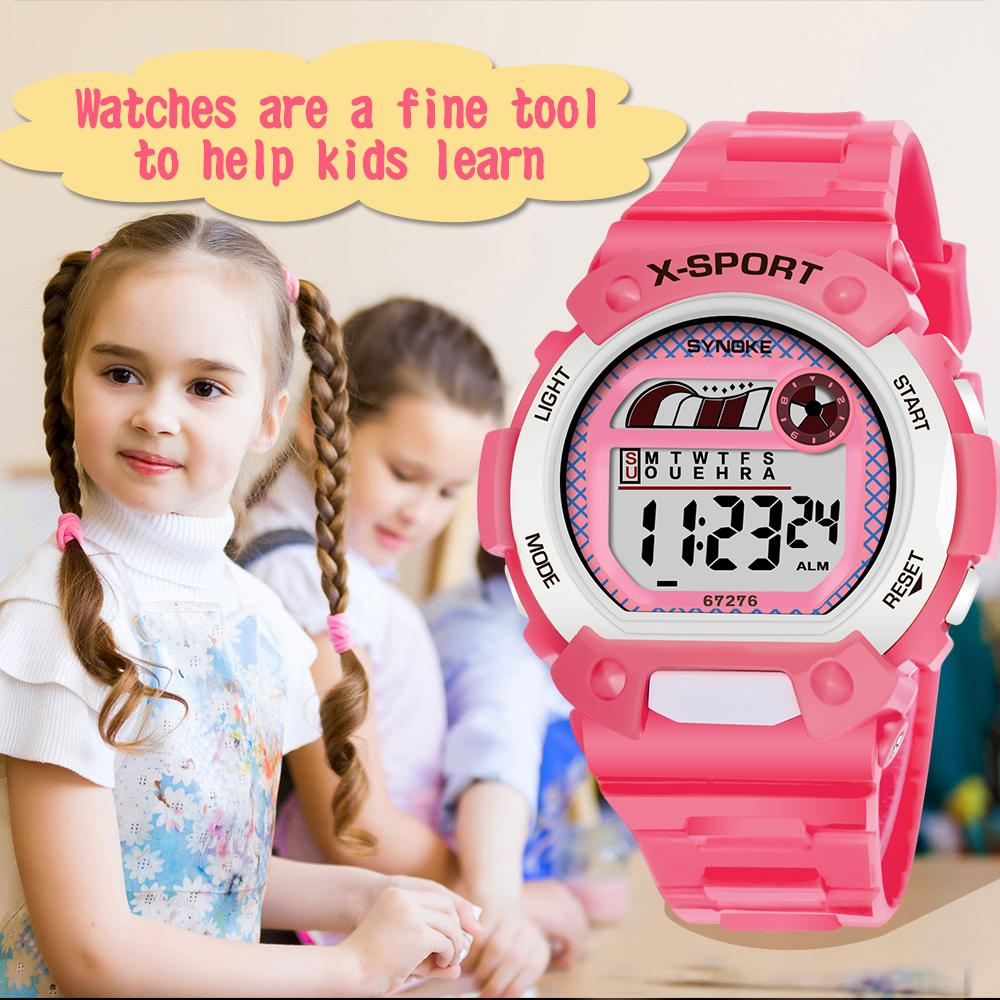 Sport Kids Watches Digital Wristwatches Timer Alarm Chrono Boy Girl Clock  30M Waterproof Children Watch Yellow