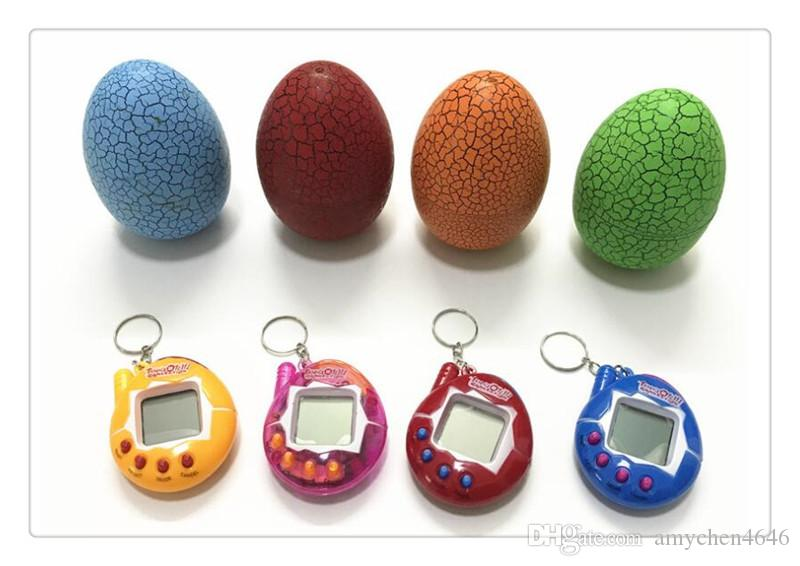 Portable Game Players Electronic Pets Toys Tumbler Cracked Egg Toys Nostalgic Virtual Cyber Digital Pet Puzzle Games Pet Toys