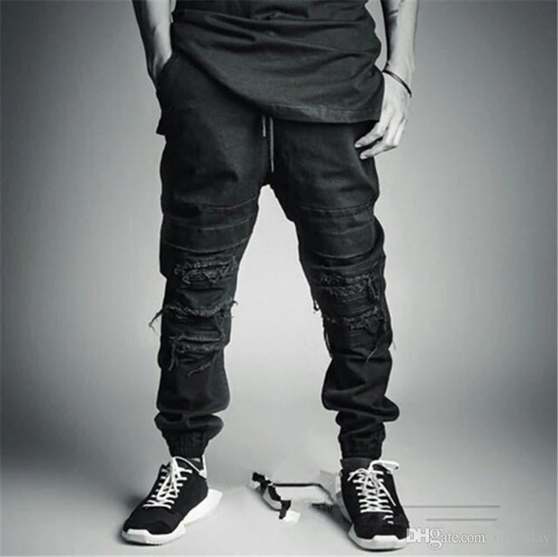 5c6f2e067c43 Wholesale-Fashion 2015 New Ripped Skinny Jeans Mens Personality Rock ...