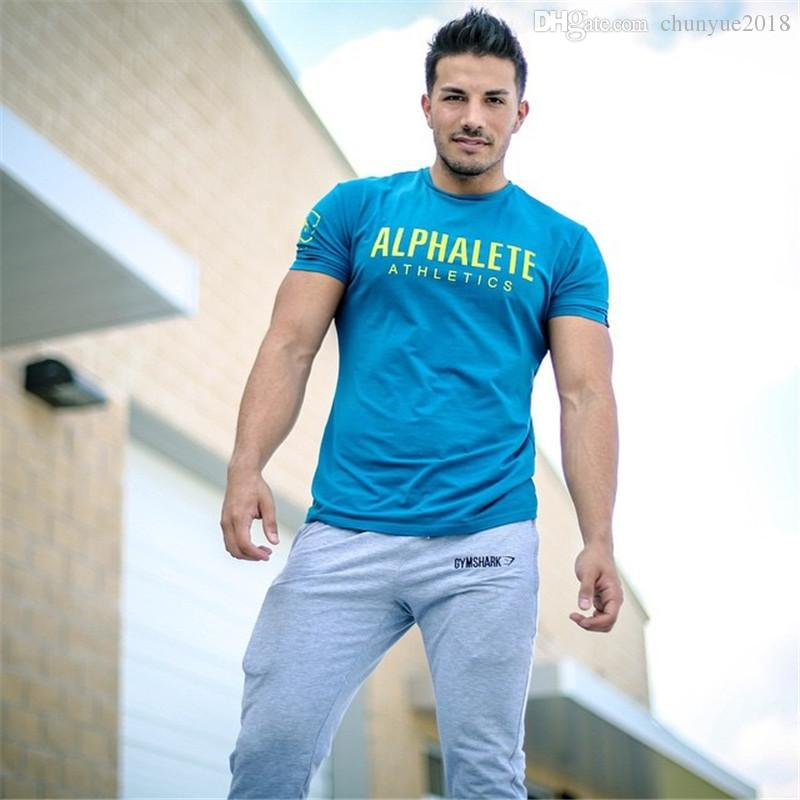 b562413b1b08d ALPHALETE Strong Muscle Men T Shirts Fashion Gym Training Fitness Crossfit T  Shirt Workout Short Sleeve Brand Tees Tops Clothing Canada 2019 From ...