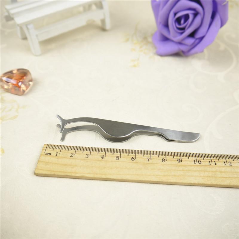 미용 도구 아이 래쉬 컬러 거짓 속눈썹 연장 핀셋 클램프 보조 클립 스테인레스