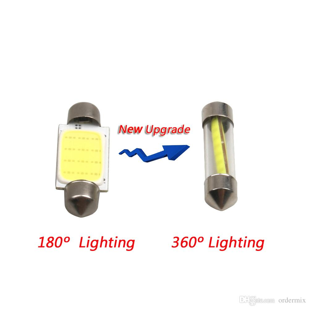 Car styling 31mm/36mm/39mm 12V Festoon LED Car Bulb Parking CANBUS C5W COB LED SIZE Interior White SMD Bulb Reading lights