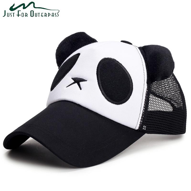 Compre Nova Moda Malha Adulto Panda Bonés De Beisebol Das Mulheres Dos  Homens Casuais Snapback Cap Respirável Primavera Verão Chapéu De Algodão De  Proteção ... 5ac9693e310