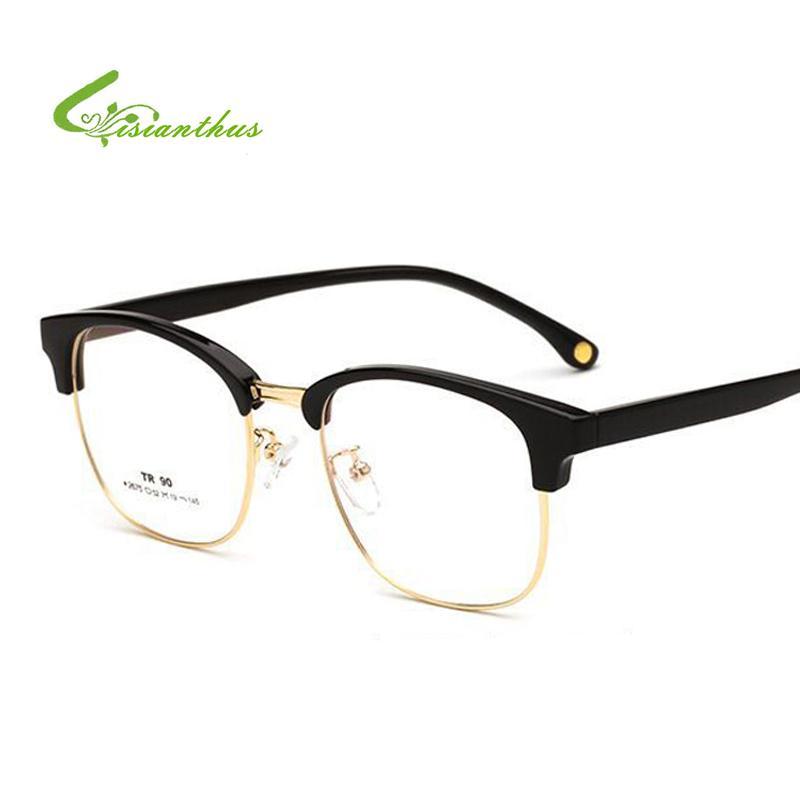 b33986335d Fashion High Quality Semi Rimless Glasses Frame Men Women Vintage TR90  Prescription Plain Eyeglasses Optical Frame Eyewear Fastrack Sunglasses  Smith ...