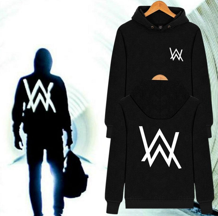 Men Women Music DJ remix Comedy pocket pullover Alan Walker hoodies hip hop  rock star hooded sweatshirt 4 styles for choice