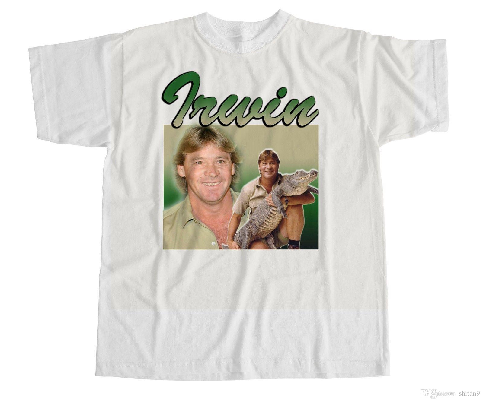 41426fc1a80 Steve Irwin T Shirt Crocodile Hunter Australia Homage Vintage Celebrity  Crikey New 2018 Summer Style T Shirt A T Shirts Fun T Shirts Online From  Shitan9