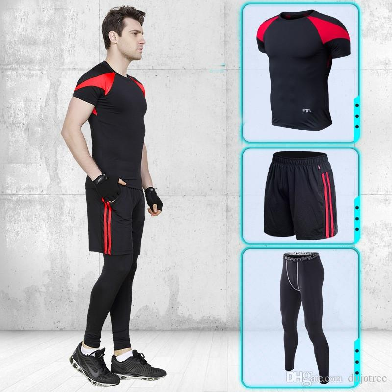 6929f01e 2019 2018 Mens Sport Suit Running Suits Men Gym Clothing Workout Sports  Suits Basketball Jersey Training Tracksuits From Dujotree, $16.91 |  DHgate.Com