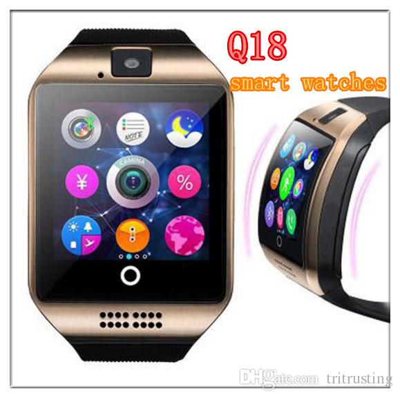 Q18 smart watches for android phones Bluetooth Smartwatch with Camera Support Health Smart watches Tf sim Card Slot Bluetooth MQ20