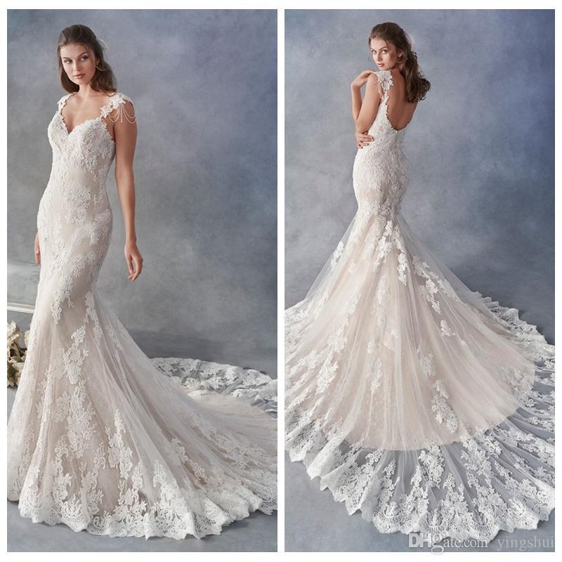 compre lujo sirena vestidos de novia por encargo sin respaldo de