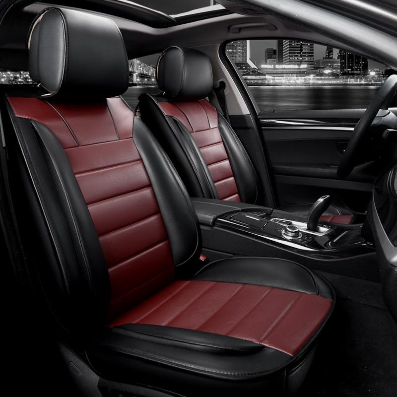 Full Seat Covers Extreme Pu Leather Universal Car Protector Fit For All Style Audi Bmw Chrysler Custom Auto