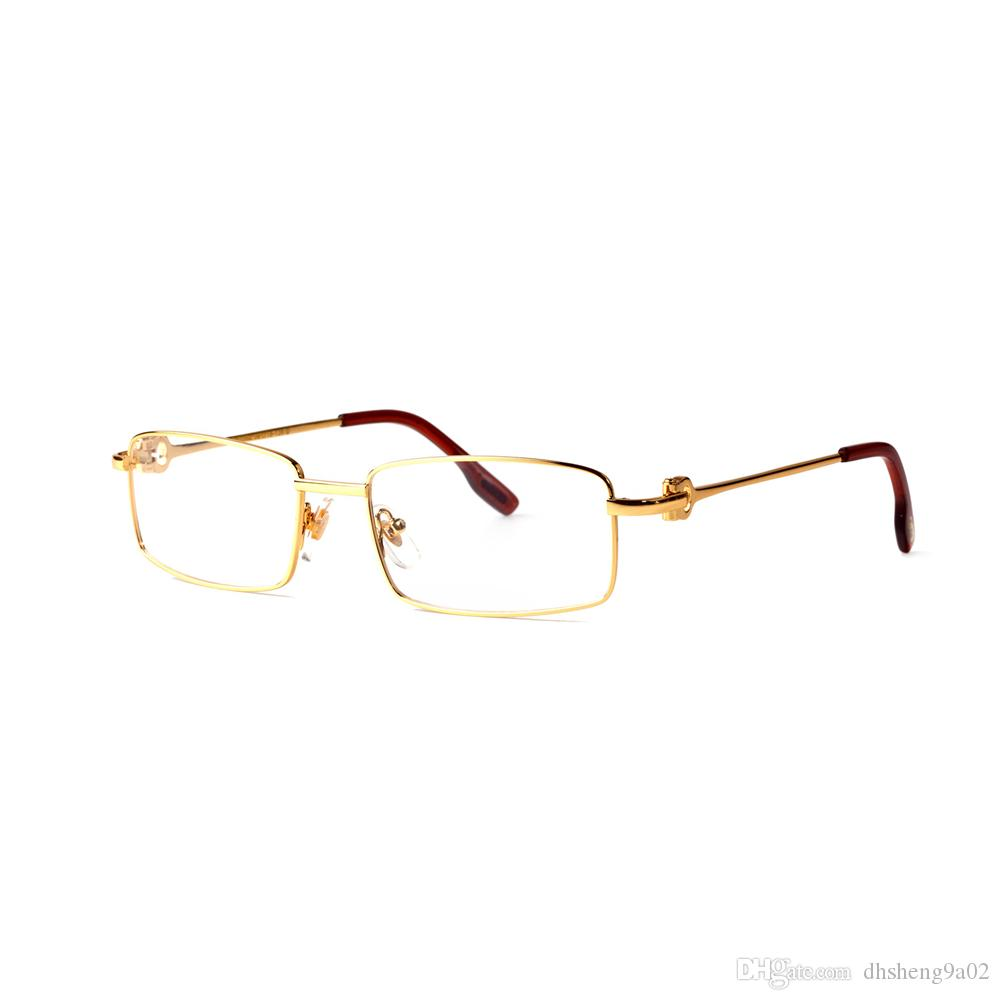 c396252ba7 Men Full Rim Brand Designers Rectangle Glasses Made In France Thin Wire  Long Buckle Women With Clear Lens Sunglasses Lunettes Foster Grant  Sunglasses ...
