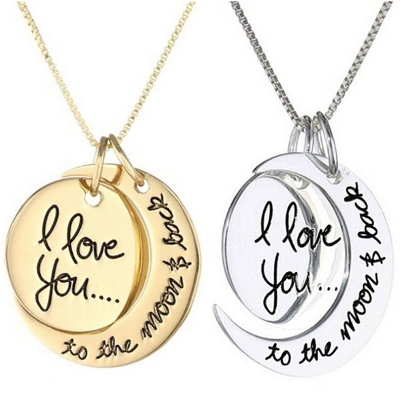 Wholesale I Love You Necklace To The Moon And Back Silver Love Forever Moon  Choker Pendant Necklace For Women Men Couple Lovers Gifts Wolf Pendant  Necklace ... e792ce8c8