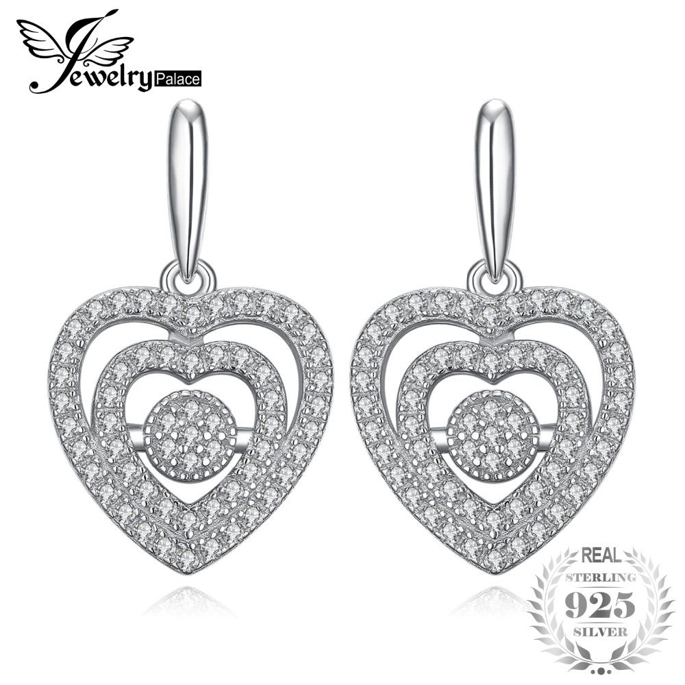 914d38ab4 2019 JewelryPalace Love Heart Pave 0.1ct Cubic Zirconia Stud Earrings 925  Sterling Silver Fine Jewelry 2018 Hot Selling Gift For Her From Poety, ...