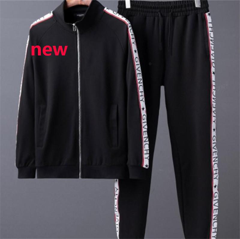 Designer Tracksuirt Fashion Brand Mens Tuta Nuovo arrivo Sport Felpa Casual Autunno Uomo Zipper Jacket and Long Pants M-3XL