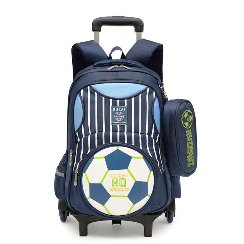 57f2d356fa ZIRANYU Latest Kids School Bags Boys Girls Trolley School Bag Luggage  Backpack Removable Children School Bags With 2 6 Wheels Y18100804 Backpack  Sale ...