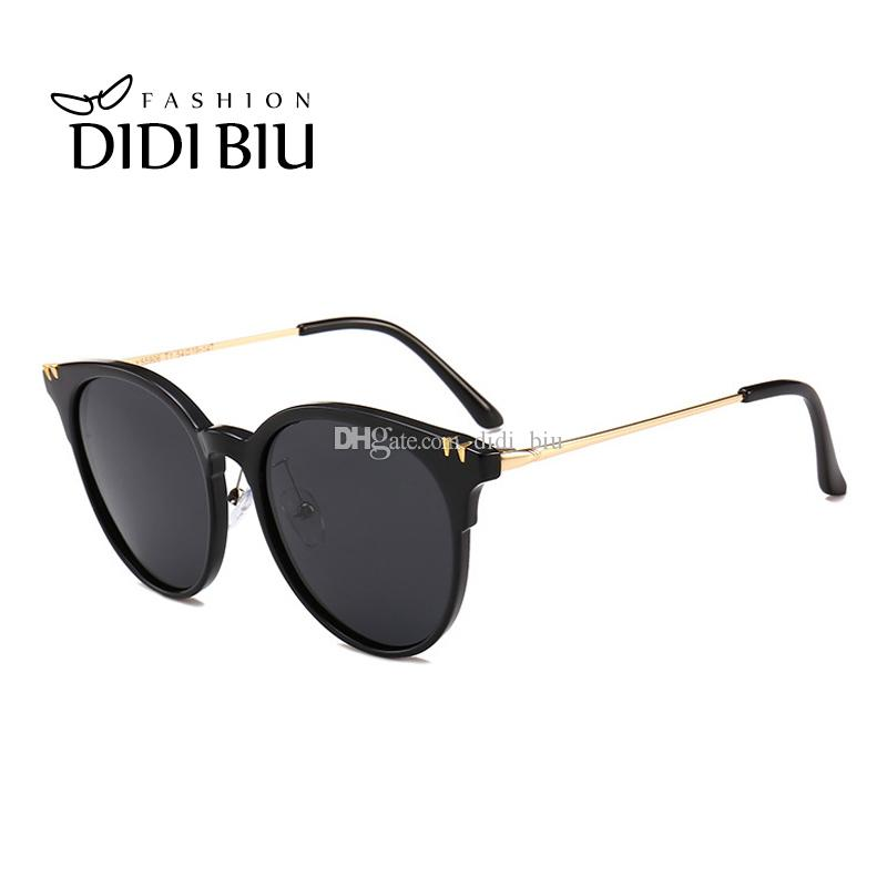 ad558ee4d0 Polarized Sunglasses Women Top Grace Rose Gold Sun Glasses Ladies Flat  Mirror Lens Circular Polarizing Shadow Oculos Mujer WH936 Best Sunglasses  For Men ...