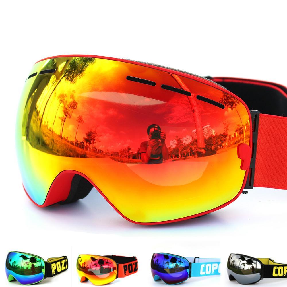 2f0de97357f 2019 COPOZZ Brand Ski Goggles Double Layers UV400 Anti Fog Big Ski Mask  Glasses Skiing Men Women Snow Snowboard Goggles From Toptactical