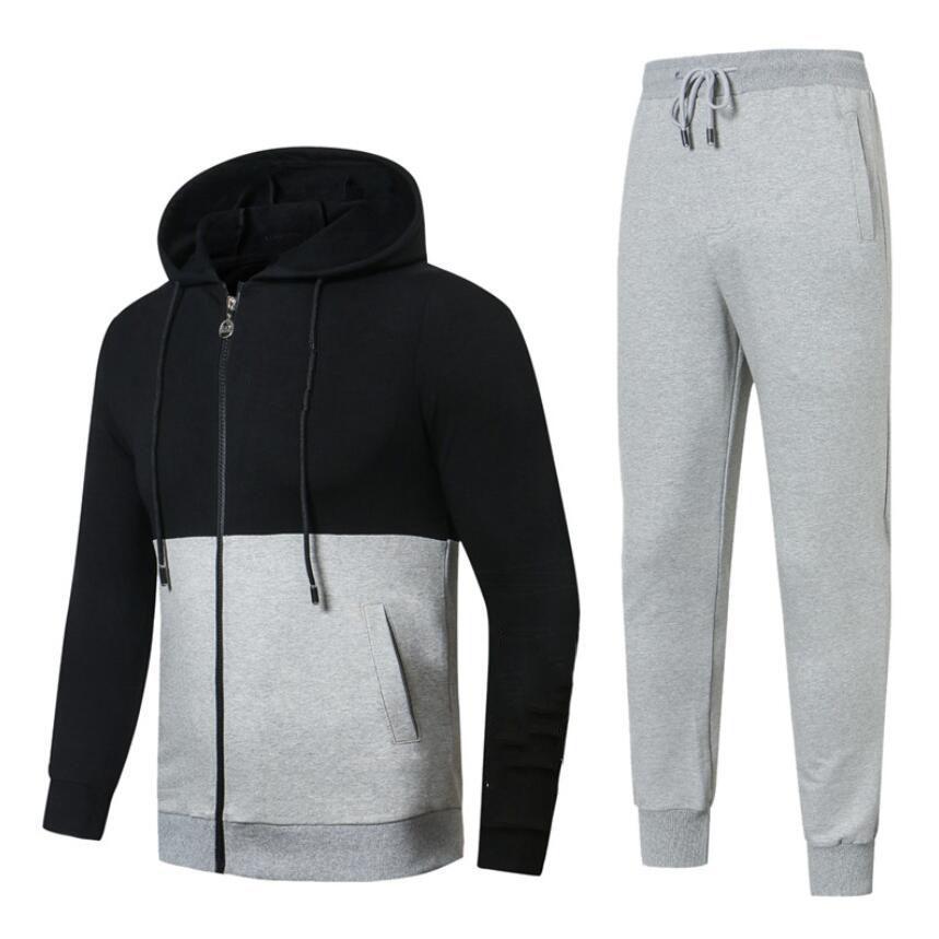 e34e546a5b8aa Satın Al Yeni Sonbahar Erkek Spor Suit Kazak Eşofman Hoodie Erkekler Casual  Suit Dış Giyim 2 Adet Hoodie Ceket + Pantolon Setleri, $86.07    DHgate.Com'da