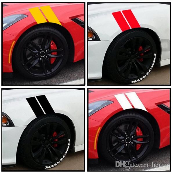 2019 New Car Fender Leaf Plate Reflective Stickers Waterproof Auto Wheel Plate Stickers Car Body Decoration