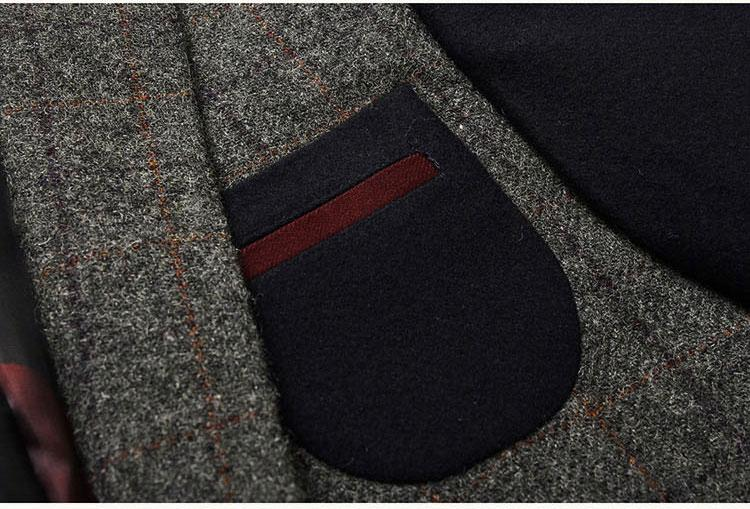 LONMMY 3XL Plaid chaqueta para hombre chaqueta Prendas de abrigo de lana traje de lana para hombre blazers de terciopelo vestido de boda rompevientos 2018 Nuevo