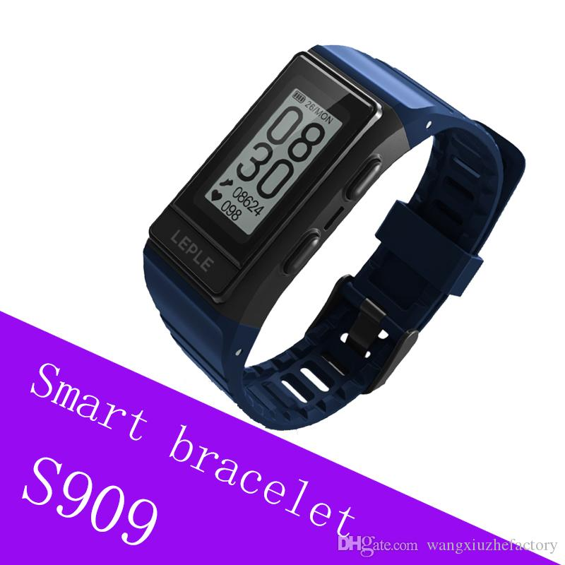 de4c2149e8dc Perseguidor de la aptitud del GPS de S909 Banda elegante Pulseras de  Bluetooth de los deportes Apoya el Monitor del ritmo cardíaco Natación que  ...
