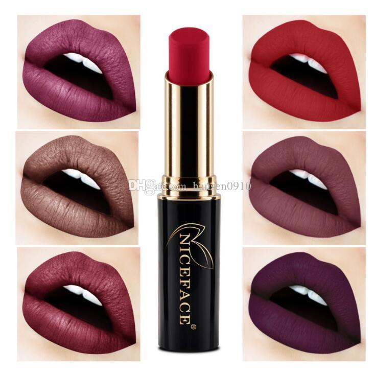 2017 Matte Lipstick Sexy Red Lips Waterproof Long Lasting Lip Gloss Lipsticks Metallic Nude Lip Makeup