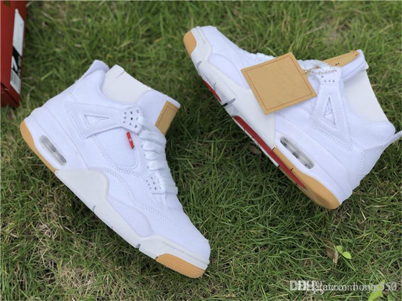 a48f1f7f7d11 2018 Best OG 4 Denim 4s Black White Jean Jiont Limited For Man Basketball  Shoes Sneakers Authentic Quality With Original Box AO2571 001 Basketball  Shoes For ...