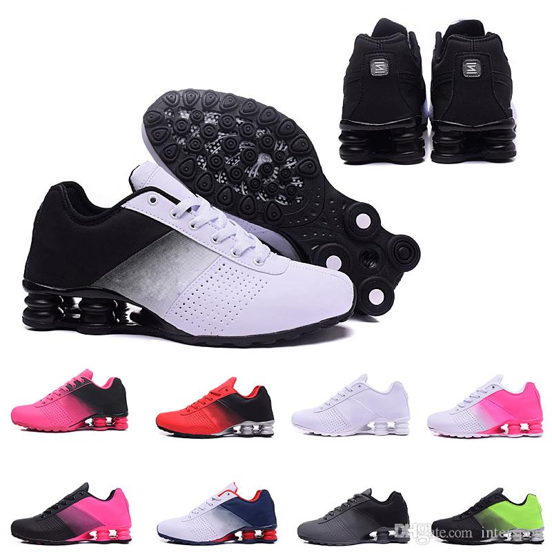 competitive price f1488 b012a Newest Shox Deliver 809 Men Air Running Shoes Drop Shipping Wholesale  Famous DELIVER OZ NZ Mens Athletic Sneakers Sports Running Shoes 40 46  Sports Shorts ...