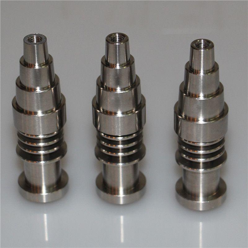 Titanium Prego Ajustável Domeless 10mm 14mm 18mm Masculino Feminino Titanium Nails Para 16mm Prego Bobina, alta Qualidade Oil Rigs Prego