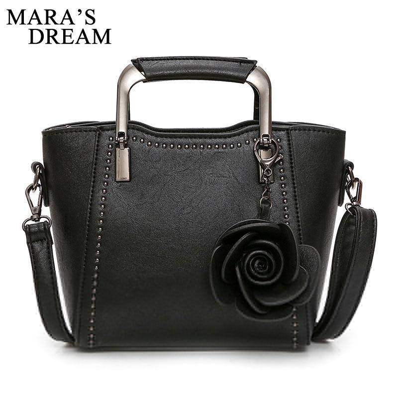 dfdcdc051c Mara S Dream 2018 Women Handbag PU Leather Bags Women Tote Shoulder Bag  Floral Tassel Messenger Bags Hand Painted Design Pink Handbags Branded  Handbags From ...