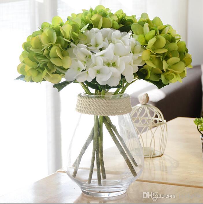 Düğün Dekoratif Simülasyon Çiçekler Gelin Tutan Çiçek Sevgililer Günü Nişan GA67 için Yapay Ortanca Bitkiler