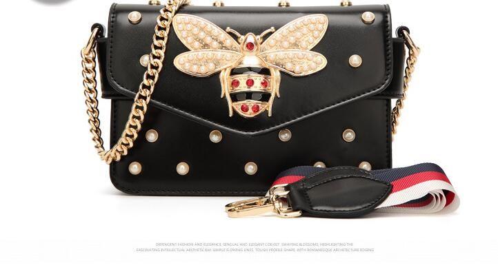 2018 Kadın Renk Ekleme Küçük Arı çanta Moda Magneti tasarımcı lüks çanta çantalar Rahat Omuz Messenger Çanta çapraz vücut çanta 98