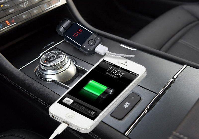 12V-24V auto estéreo bluetooth manos libres kit de coche transmisor de FM U disco TF tarjeta MP3 reproductor de música voiture bluetooth teléfono