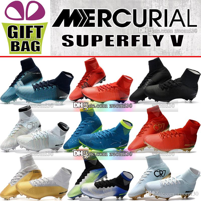 Original High Ankle Soccer Boots Outdoor Mercurial Superfly FG AG Soccer Shoes CR7 Ronaldo Socks Football Boots Neymar JR ACC Soccer Cleats clearance browse get authentic sale online discount shop offer buy cheap marketable outlet fashion Style evkf0X0K9