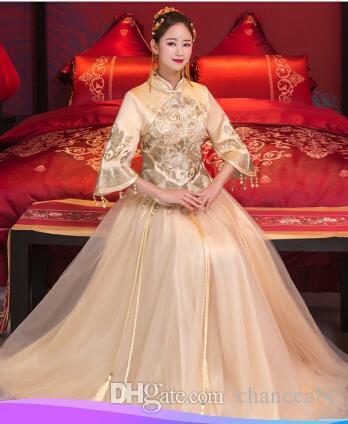 Chinese Style Wedding Dress 2017 New Suit Dress Wedding Bride Xiuhe ...