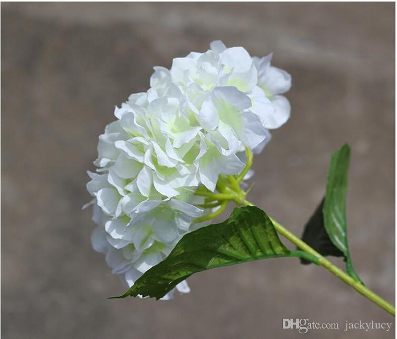 "Artificial Hydrangea Flower 80cm/31.5"" Fake Silk Single Hydrangeas for Wedding Centerpieces Home Party Decorative Flowers"
