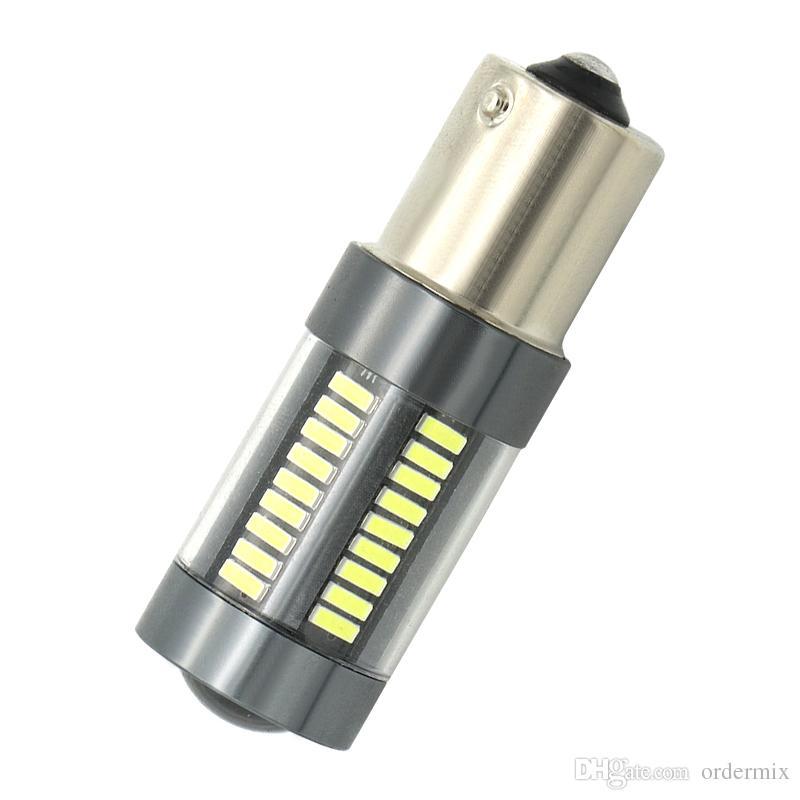 2x автомобилей задний фонарь 1156 LED Canbus BA15S / P21W и BAU15S / PY21W и S25 4014 66 СМД авто тормоз лампа заднего хода DRL задняя парковка лампы
