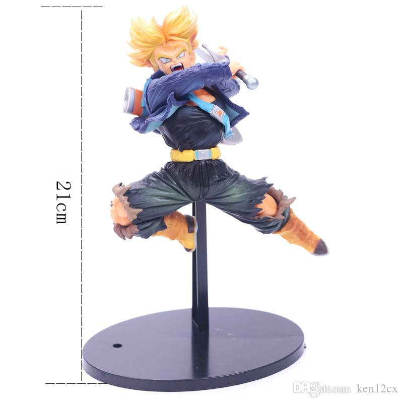 21CM Cartoon Dragon Ball Z Trunks Action Figure PVC Collection figures toys for christmas gift brinquedos with Retail box