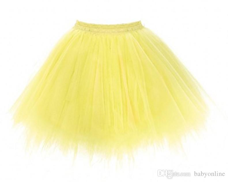 Neue Ankunft billig Mini Sexy Tutu Röcke schwarz Tüll Röcke Womens Petticoat Rockabilly 5 Schichten Puffy Sommer Rock CPA782